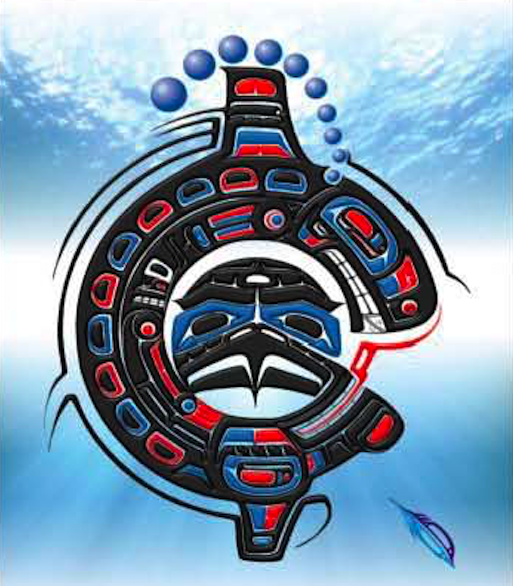 "Heiltsuk Eagle and Killer Whale ""Drawing on the strength Of others"""