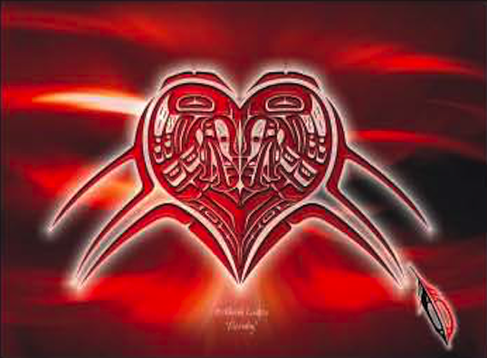 "Heiltsuk Eagles ""Eternity"" Together forever…"
