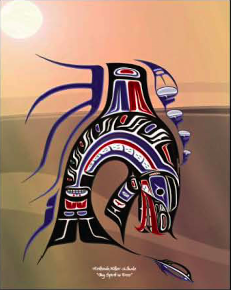 "Heiltsuk killer Whale ""My Spirit Is free"""