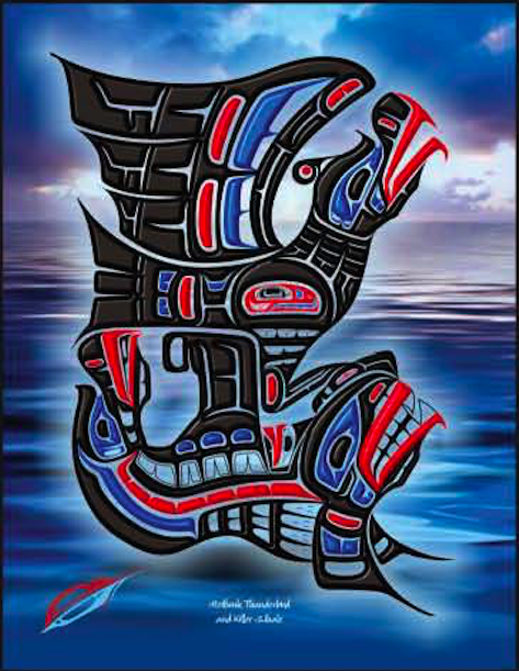 "Heiltsuk Thunderbird & killer Whale ""Spiritual Connection"""