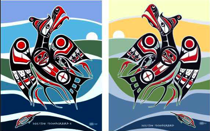 "Heiltsuk Thunderbird ""In Motion"""