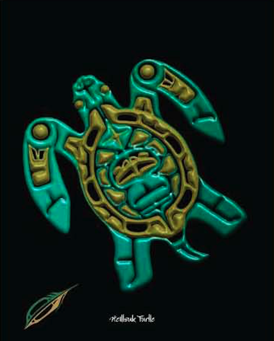 "Heiltsuk Turtle ""Taking The Time"""