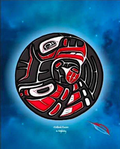 Heiltsuk Raven  In The Night Sky