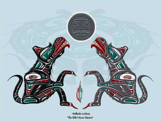 "Heiltsuk Wolves ""The path I have chosen"" - second version"