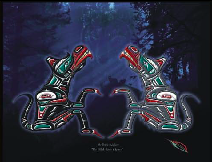 "Heiltsuk Wolves ""The path I have chosen"""